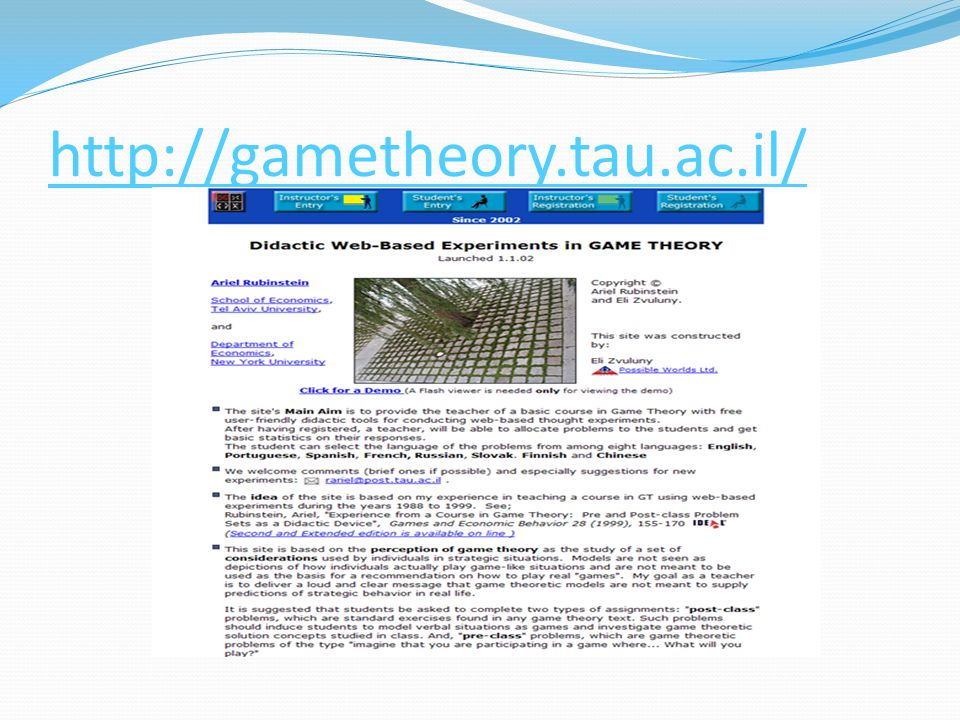 http://gametheory.tau.ac.il/