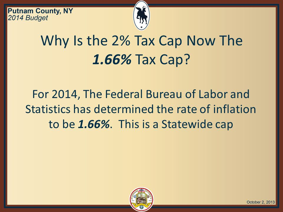 $1.96m Before we started the 2014 budget process, the mandated expenses exceeded the tax cap