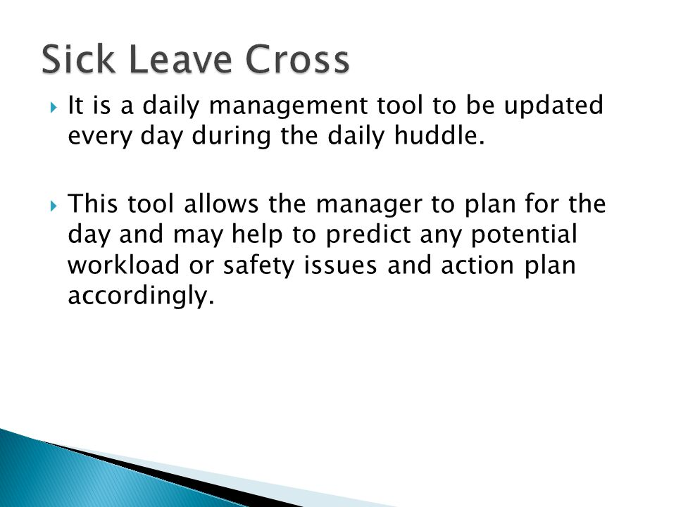  It is a daily management tool to be updated every day during the daily huddle.