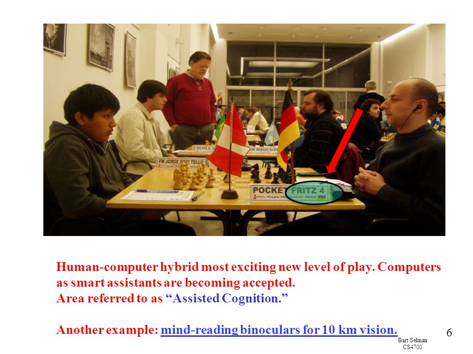 Bart Selman CS4700 7 Why is Game-Playing a Challenge for AI.