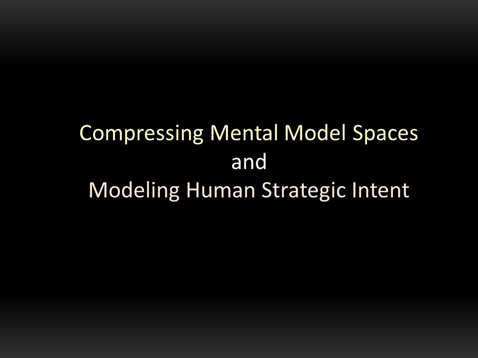 Compressing Mental Model Spaces and Modeling Human Strategic Intent