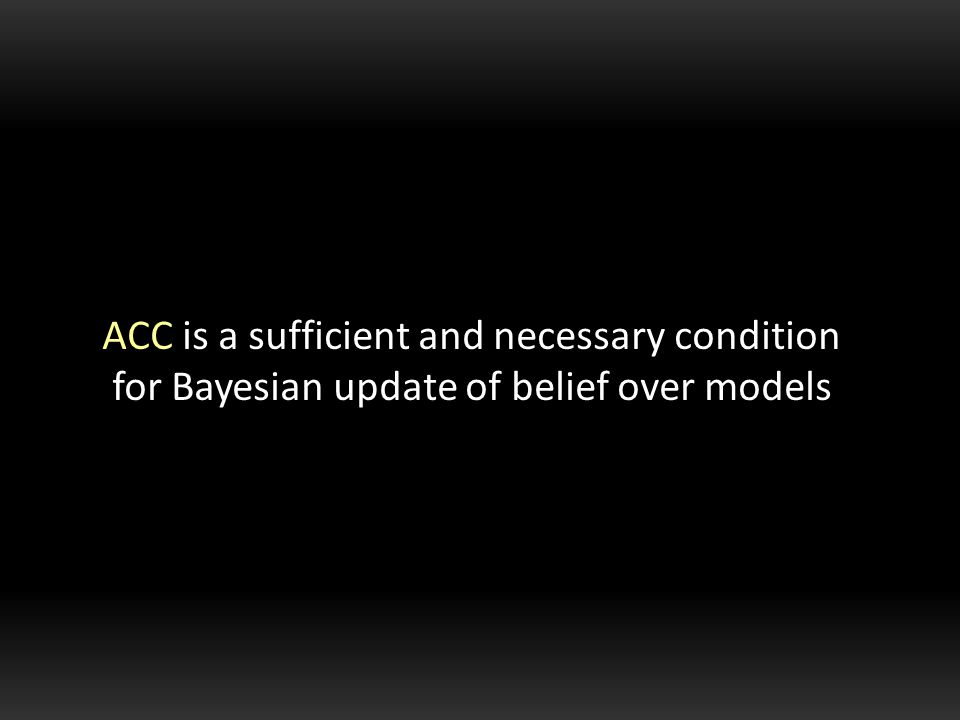 ACC is a sufficient and necessary condition for Bayesian update of belief over models