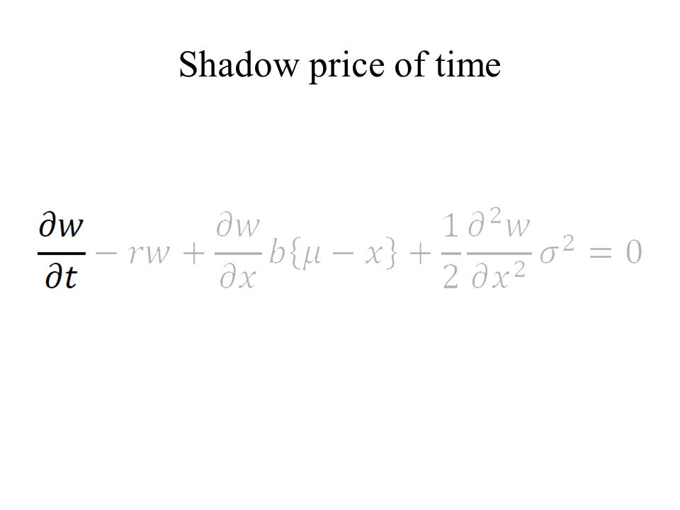 Shadow price of time