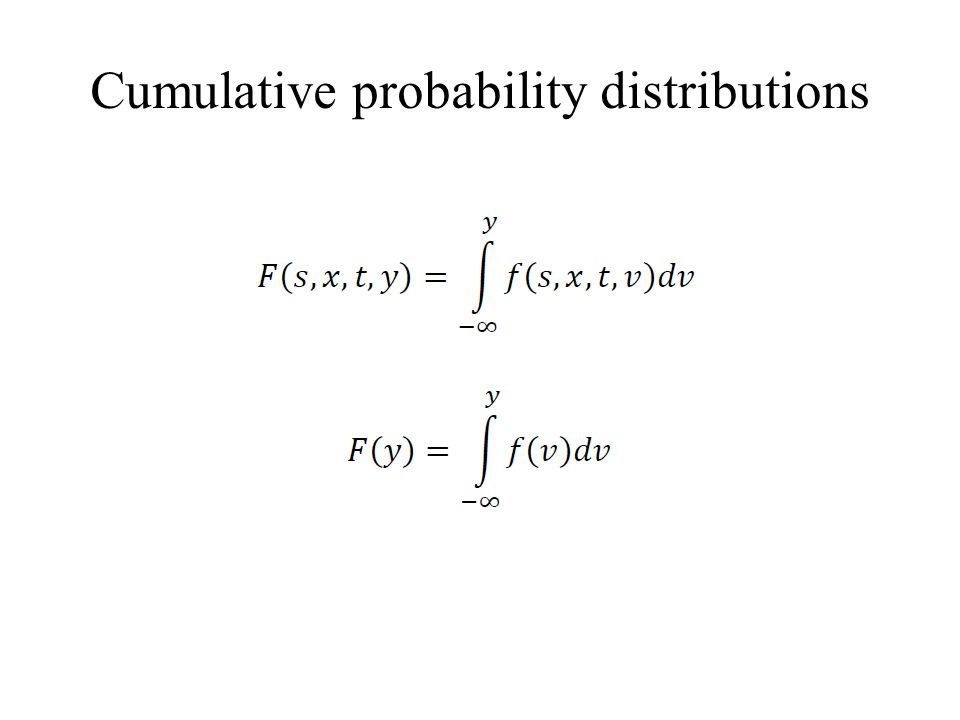 Cumulative probability distributions