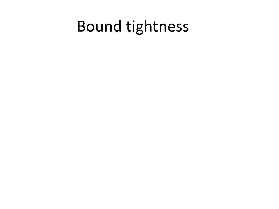 Bound tightness