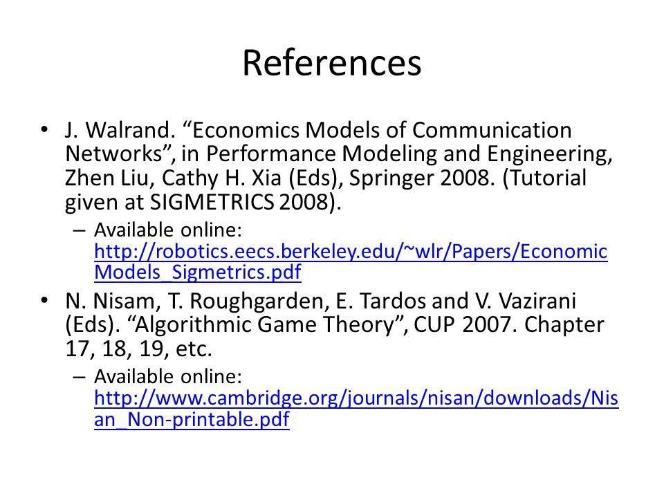 References J. Walrand.