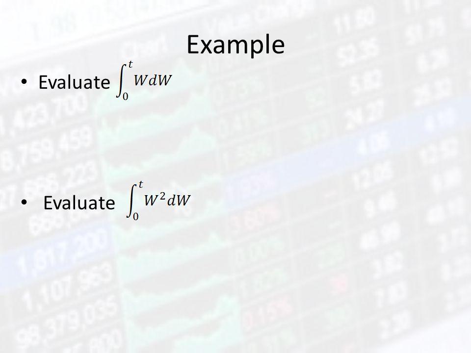 Example Evaluate