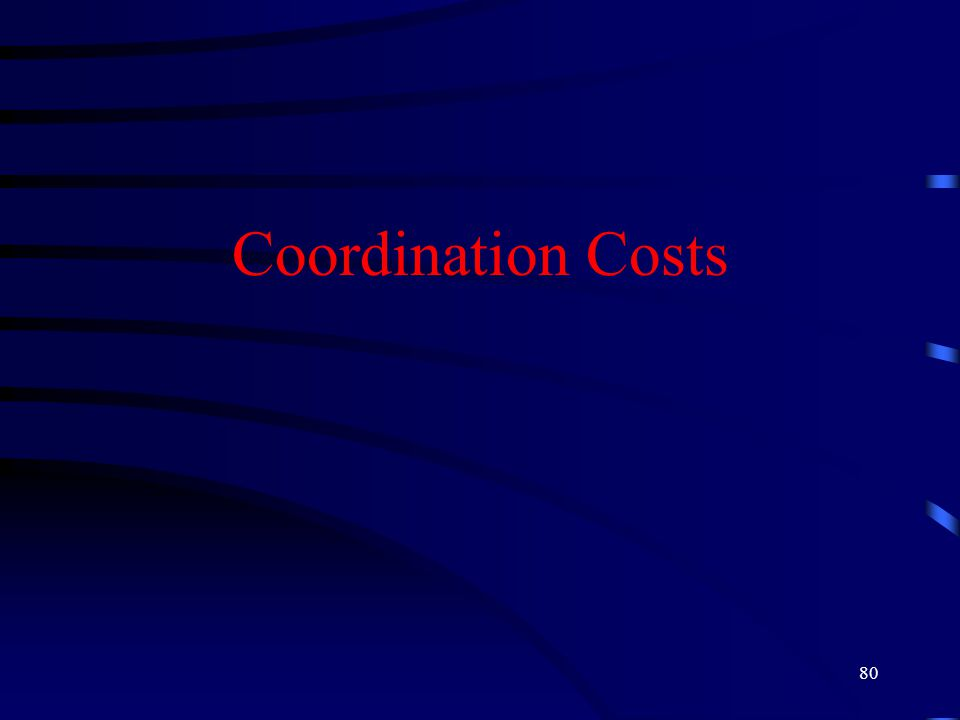 80 Coordination Costs