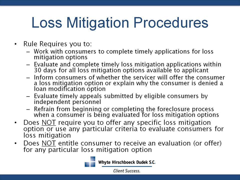 Loss Mitigation Procedures
