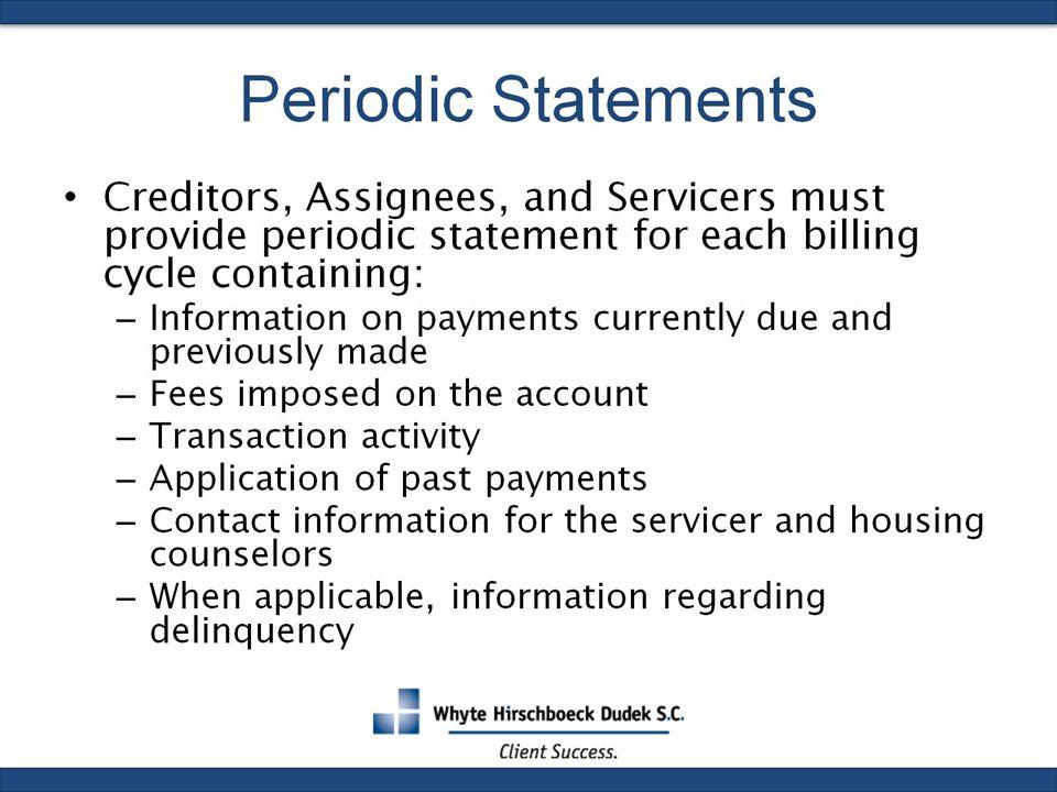 Periodic Statements