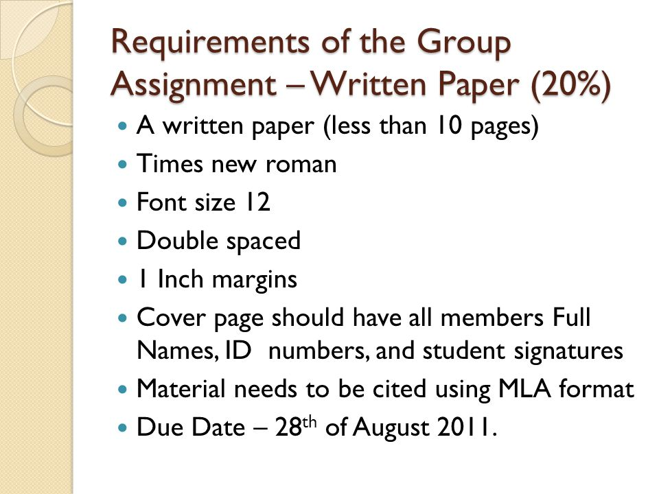 Final Thoughts Remember both the paper and the presentation will make you more confidant students.
