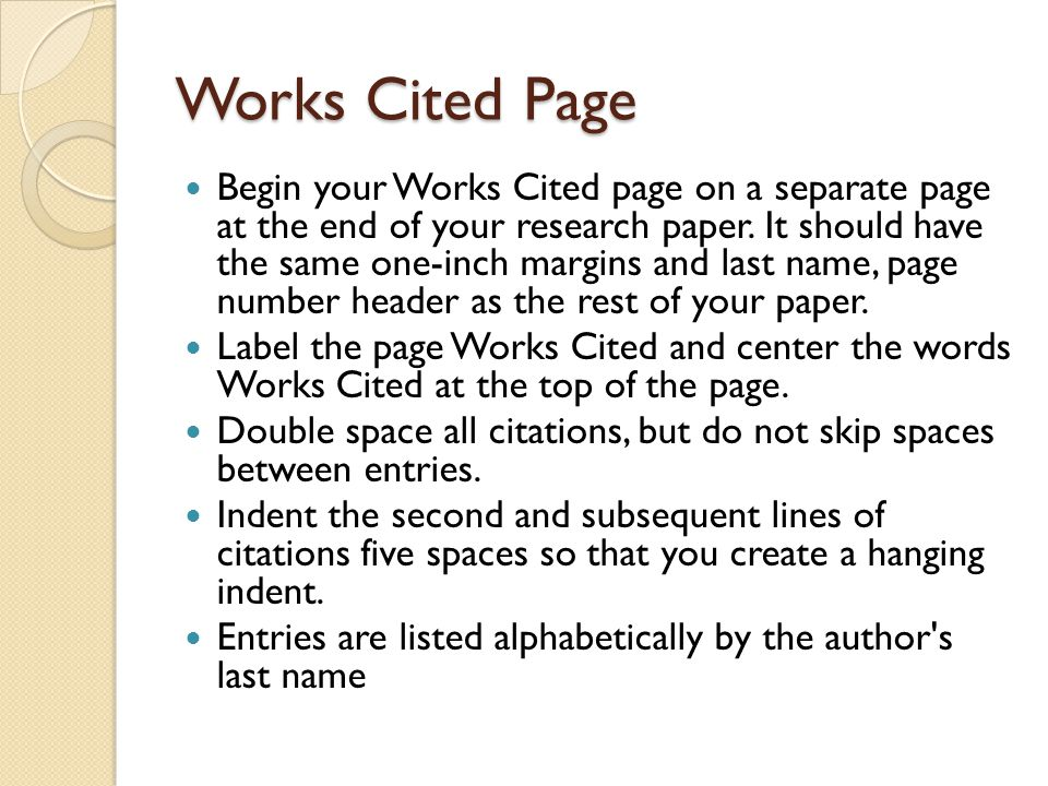 Citing Books The author's name or a book with a single author s name appears in last name, first name format.