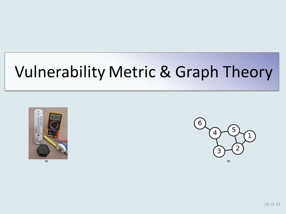 of 33 19 SSI Vulnerability Metric & Graph Theory