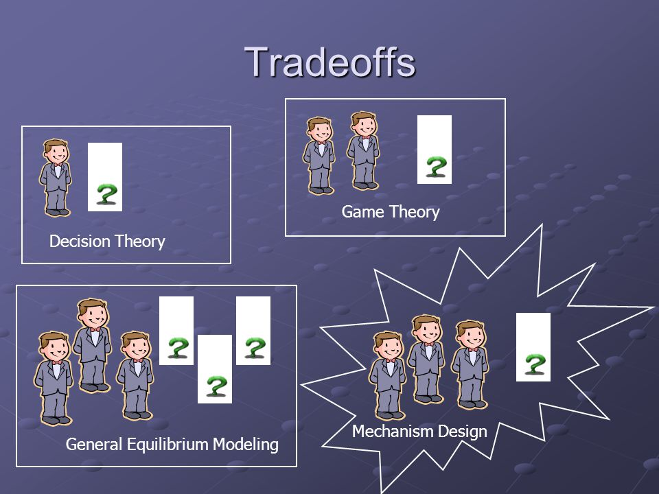Tradeoffs Decision Theory General Equilibrium Modeling Game Theory Mechanism Design