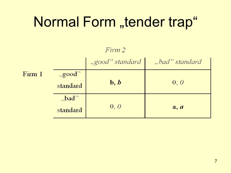 "7 Normal Form ""tender trap"