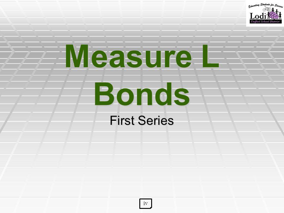 Measure L Bonds First Series iv