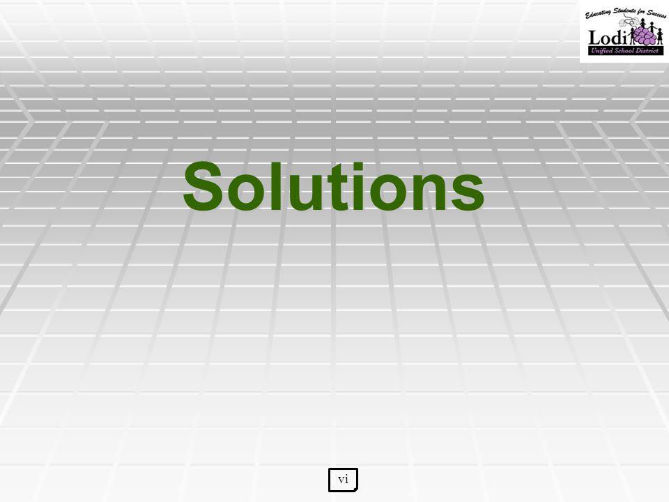 Solutions vi