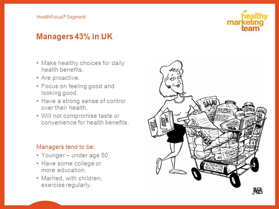 Managers 43% in UK Make healthy choices for daily health benefits.