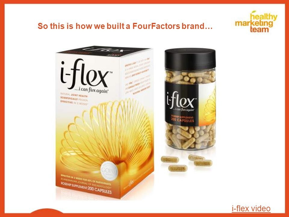 So this is how we built a FourFactors brand… i-flex video