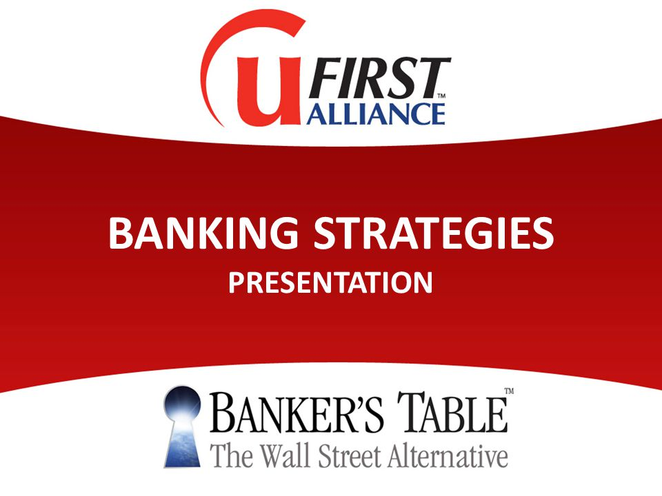 BANKING STRATEGIES PRESENTATION