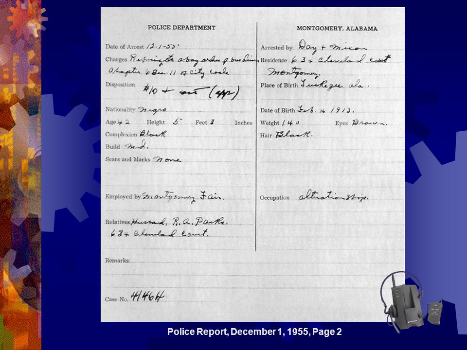 Police Report, December 1, 1955, Page 2