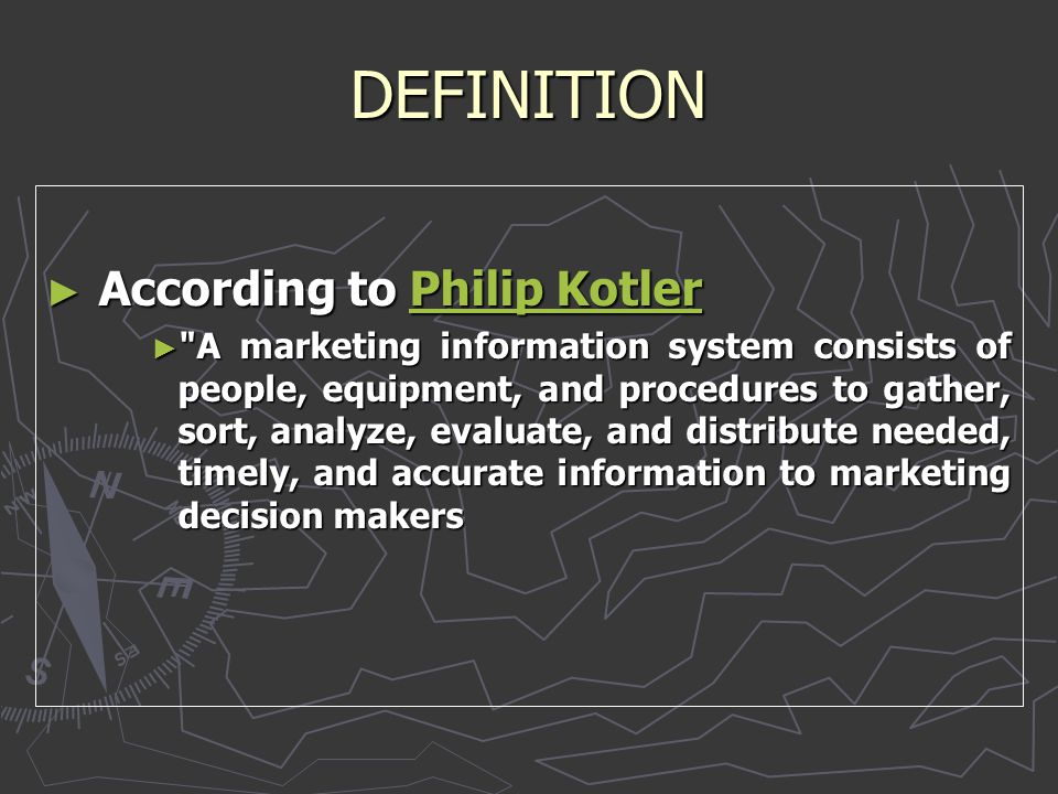 DEFINITION ► According to Philip Kotler ► According to Philip Kotler Philip KotlerPhilip Kotler ►