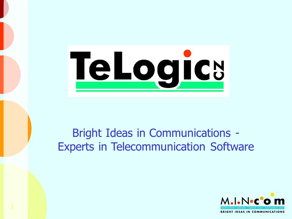 1 Bright Ideas in Communications - Experts in Telecommunication Software