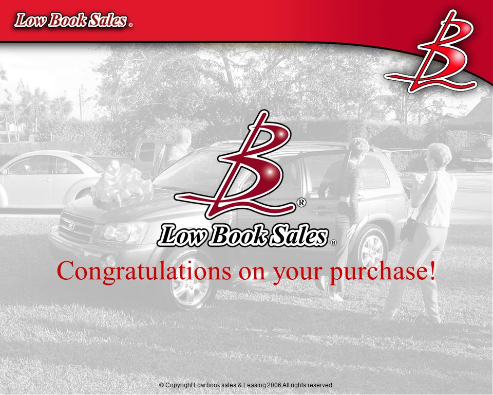 © 2000 Morrison Automotive Consultants, LLC Congratulations on your purchase.