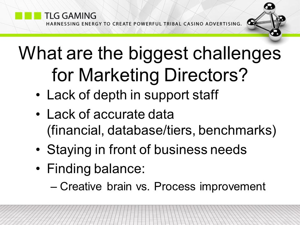 What are the biggest challenges for Marketing Directors.