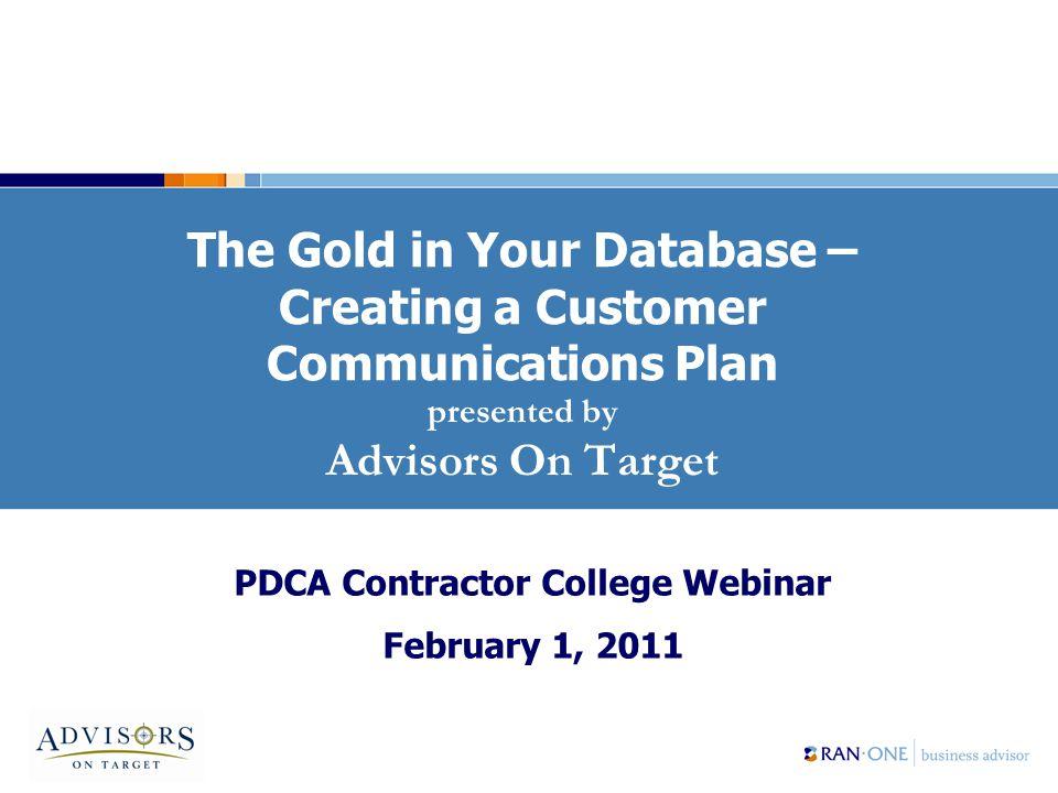 22 Your Customer Communications Plan