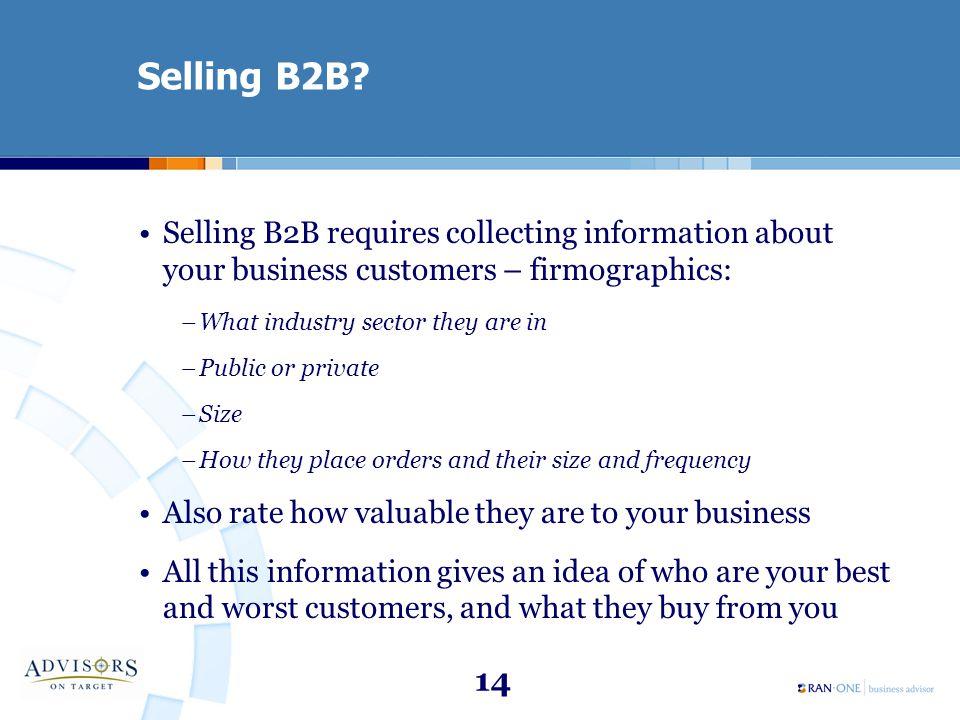 14 Selling B2B.