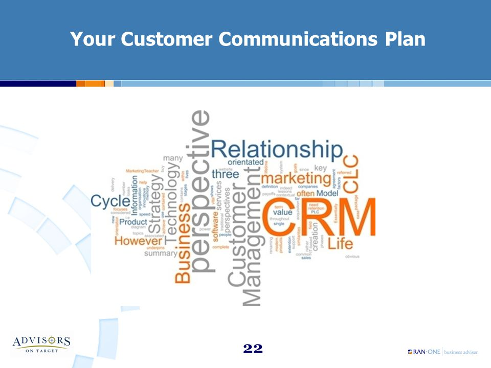 22 Your Customer Communications Plan