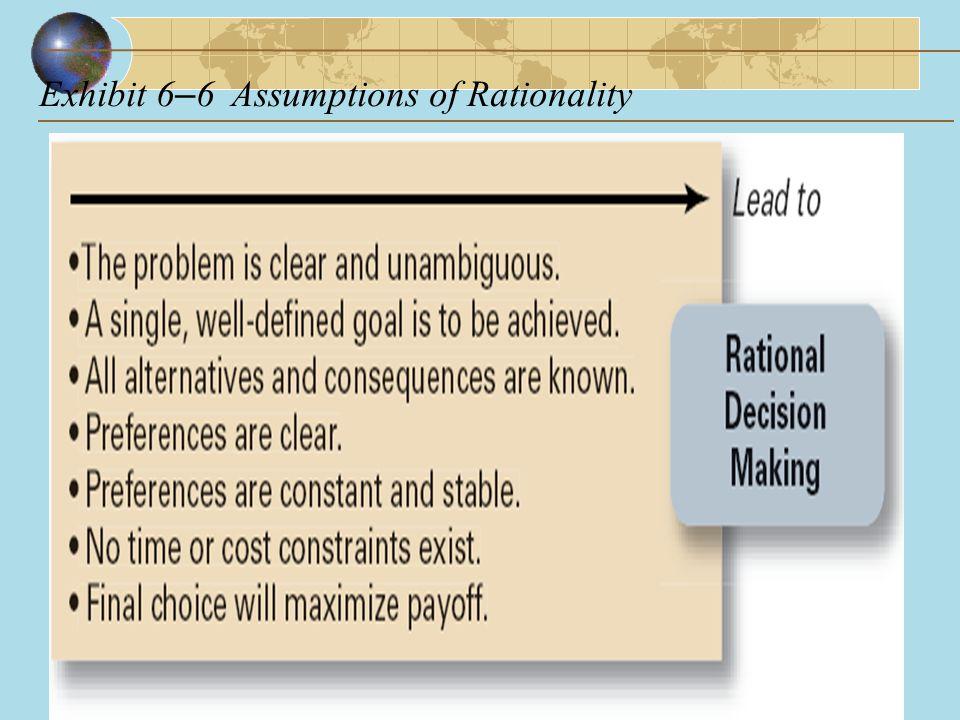 Exhibit 6 – 6Assumptions of Rationality