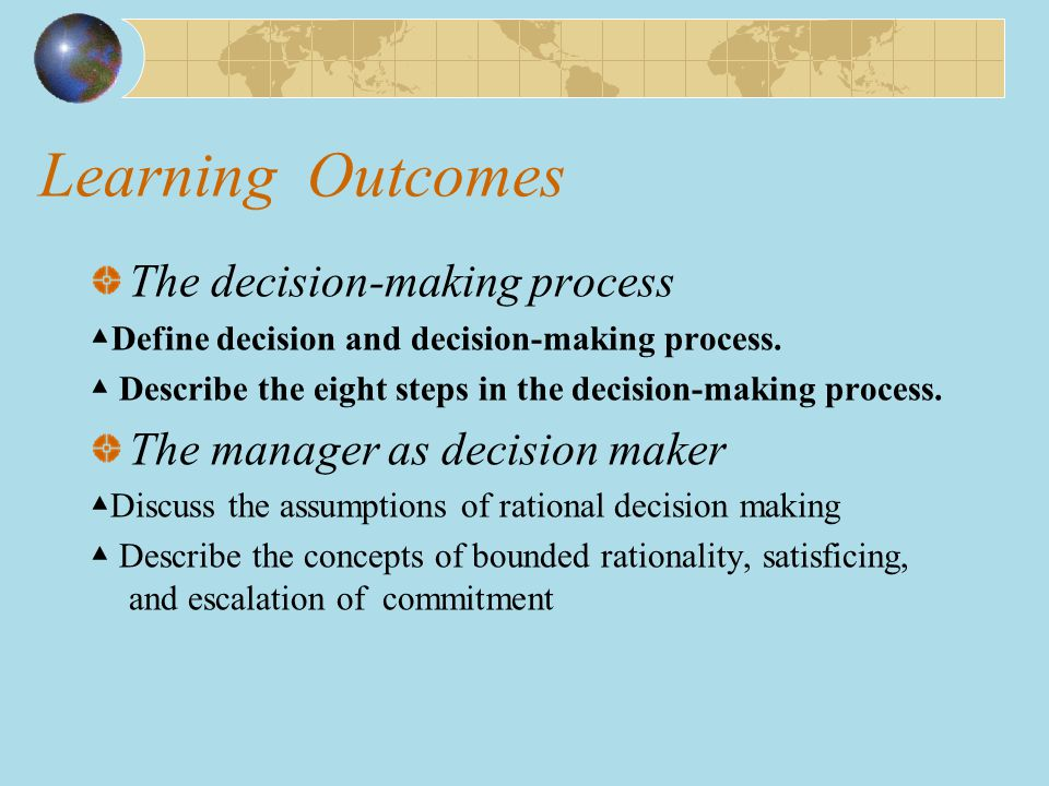 Decision-Making Biases and Errors (cont ' d) Anchoring Effect (第一印象) Fixating on initial information and ignoring subsequent information.