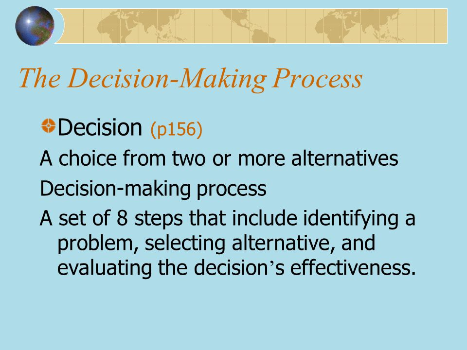 Decision-Making Biases and Errors (cont ' d) Sunk Costs Errors (沉没成本) Forgetting that current actions cannot influence past events and relate only to future consequences.