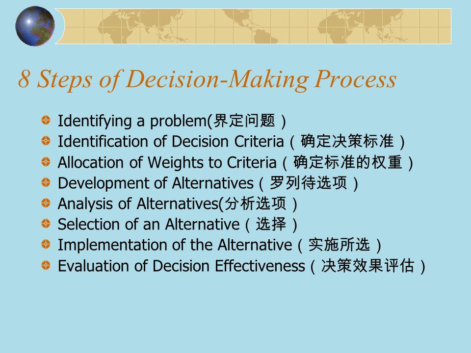 Exhibit 6 – 12Decision-Making Matrix