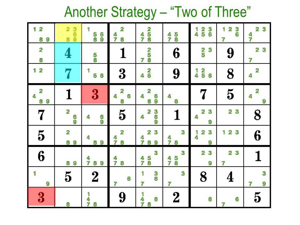 Another Strategy – Two of Three