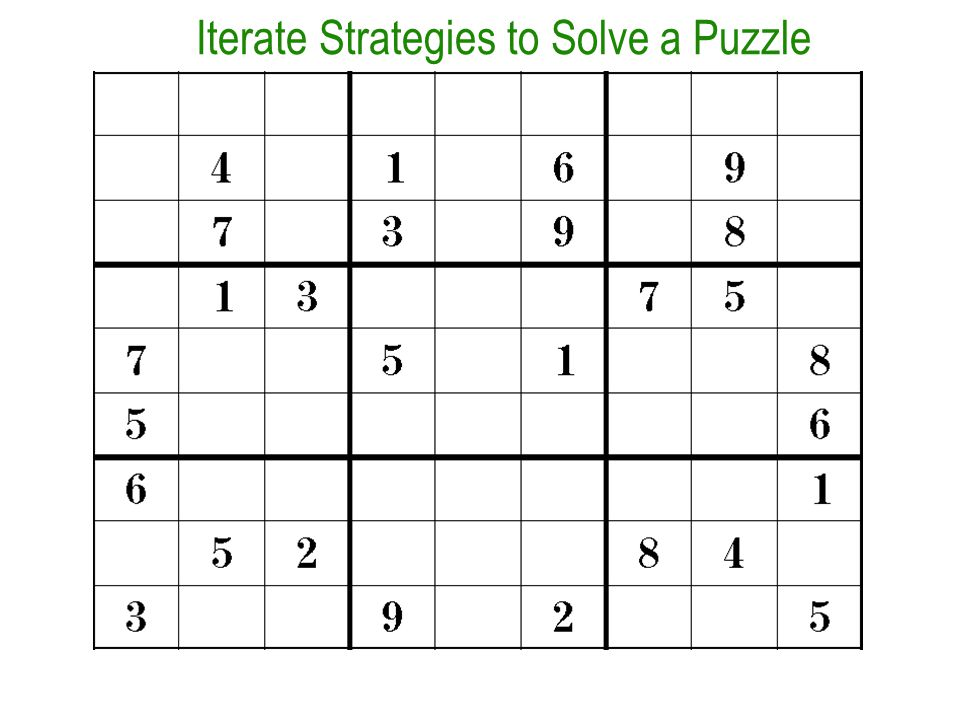 Iterate Strategies to Solve a Puzzle