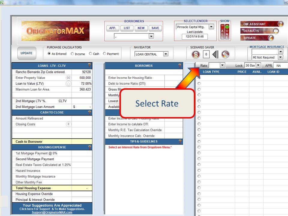 Select Rate