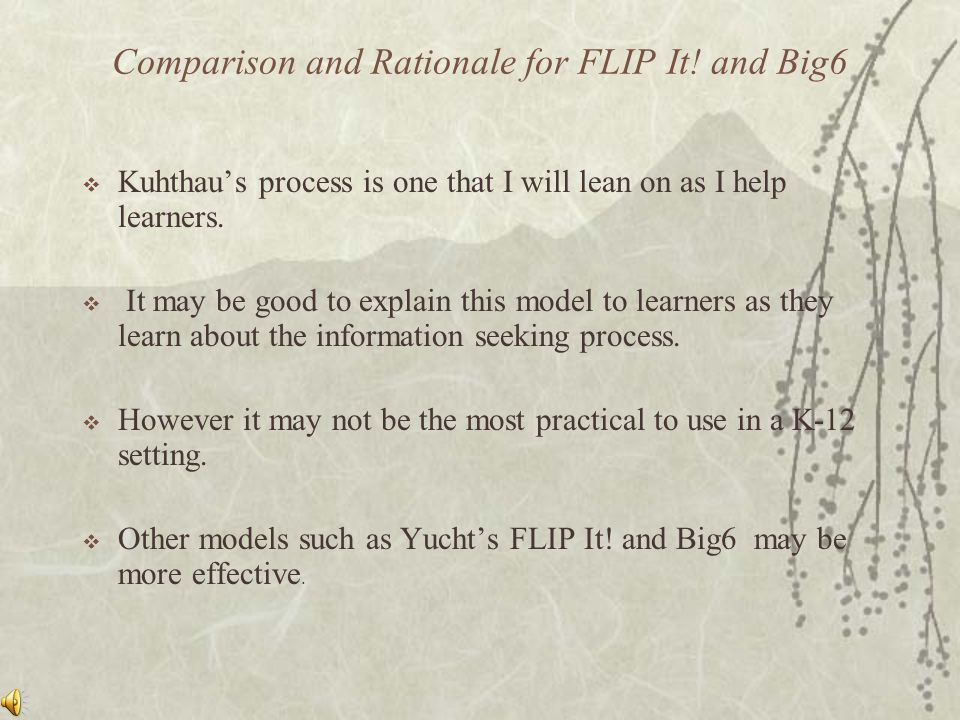 Comparison and Rationale for FLIP It.