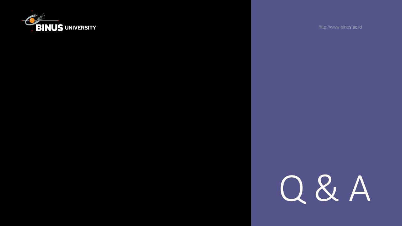 Q & A http://www.binus.ac.id