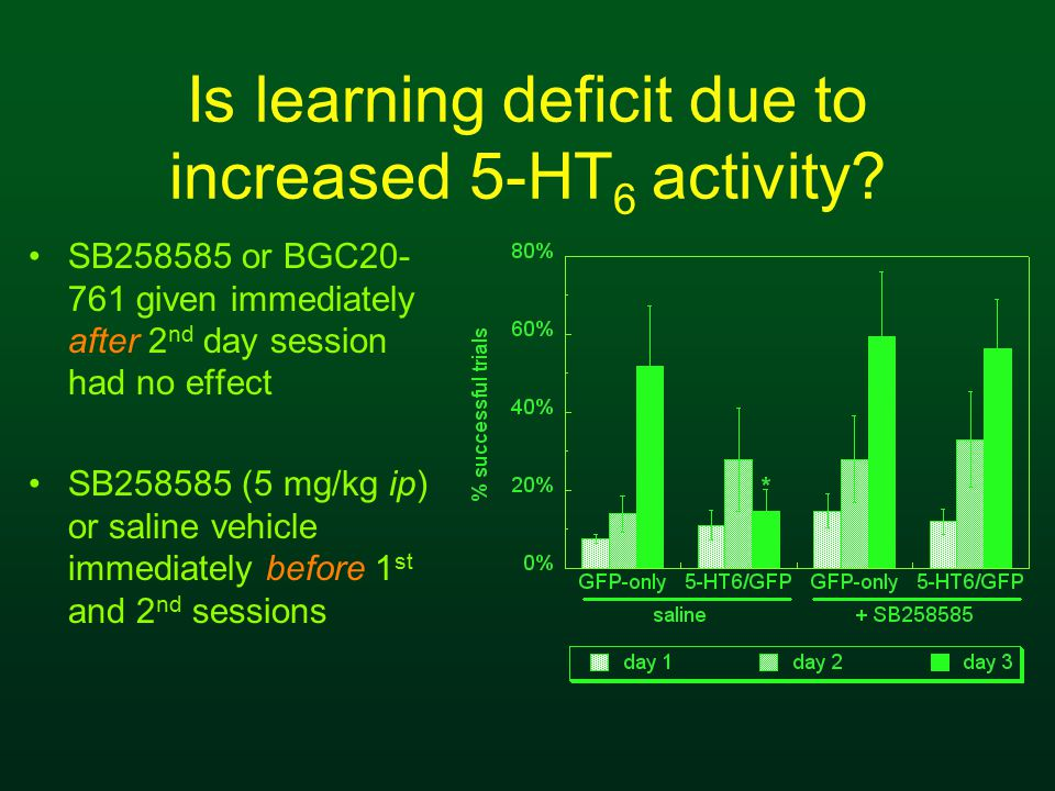 Is learning deficit due to increased 5-HT 6 activity.