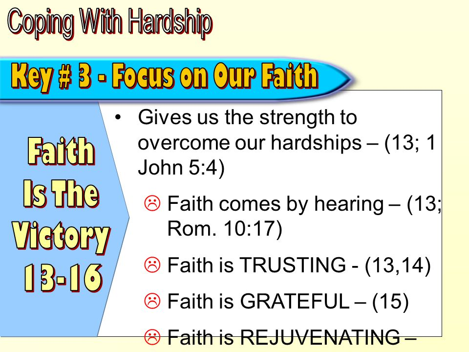Comparing now with later – (17) Focusing on what will be, and not on what is physically seen – (18) We have the assurance of the resurrection – (5:1-5) Therefore we live by faith – not sight – (5:6-8)