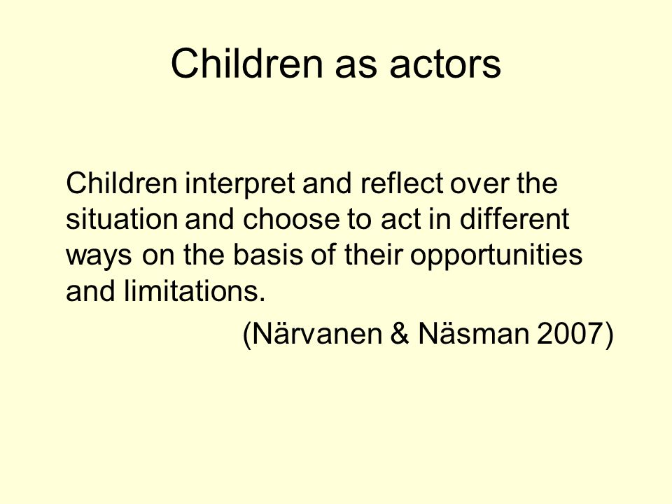 The children and their families The sample includes a total of 8 adults and 14 children aged 7–19 in seven families.