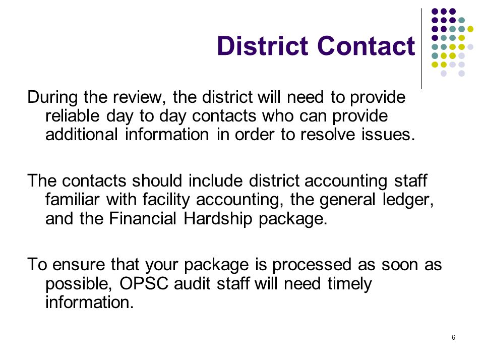 7 Financial Hardship Phase I Submittal A Phase I Financial Hardship (FH) submittal will include the following: A cover letter requesting FH assistance A completed & signed FH Checklist – Phase I http://www.documents.dgs.ca.gov/opsc/Forms/Checklists/Fi n_Hrdshp_Chklst.pdf http://www.documents.dgs.ca.gov/opsc/Forms/Checklists/Fi n_Hrdshp_Chklst.pdf The appropriate backup documents (discussed in the presentation) Once the FH Phase I request is received by the OPSC, it is reviewed for completeness.