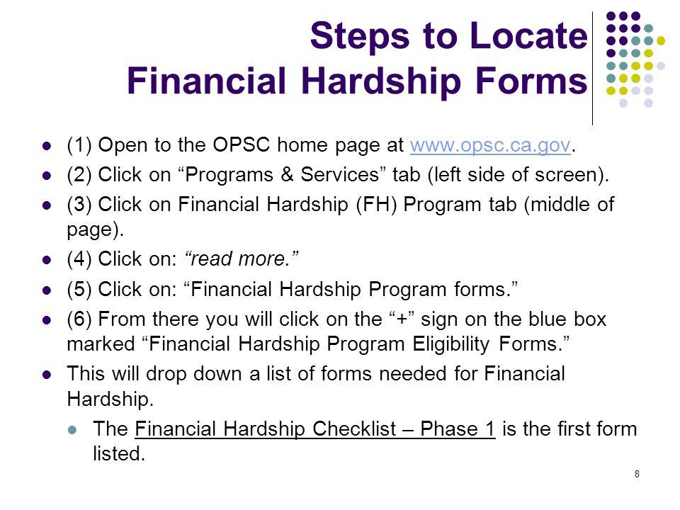 19 Financial Hardship Project Worksheet