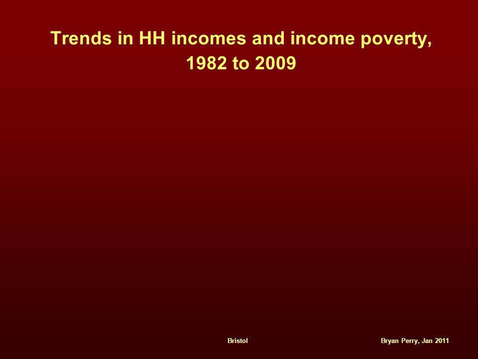Bryan Perry, Jan 2011Bristol Trends in HH incomes and income poverty, 1982 to 2009