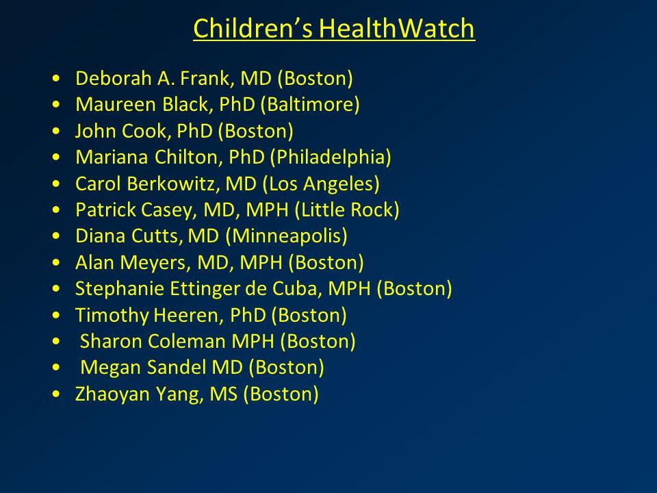Children's HealthWatch Deborah A.