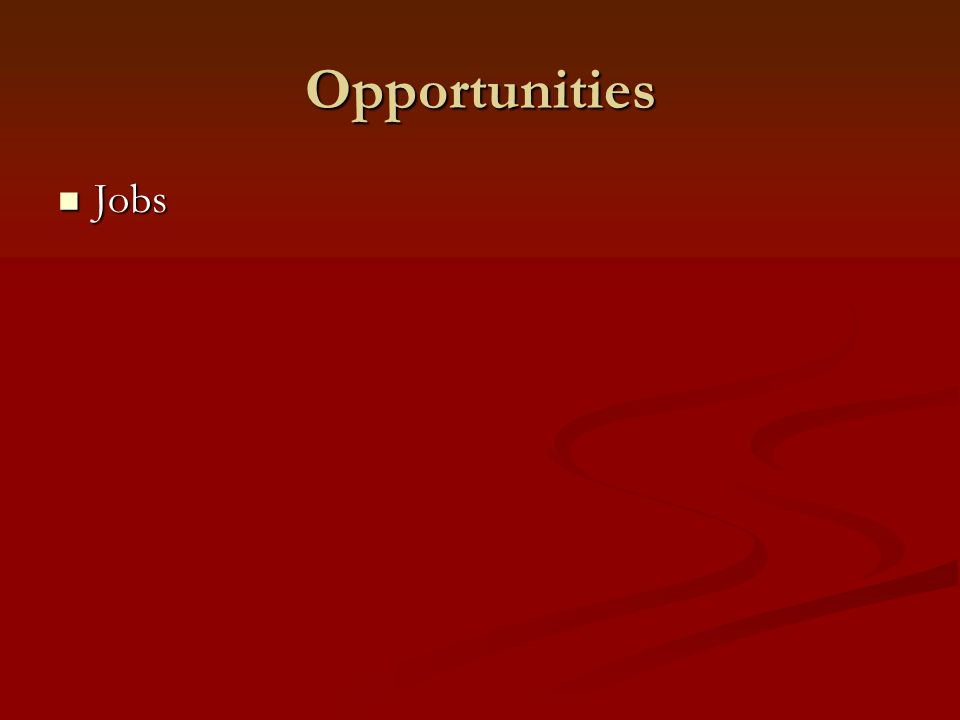 Opportunities Jobs Jobs