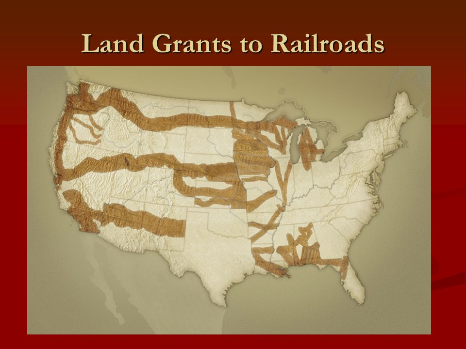 Land Grants to Railroads